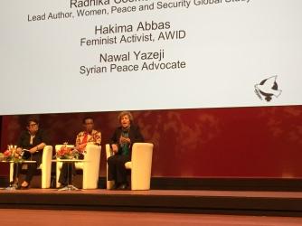 Nawal Yazeji of the Syrian Women's League